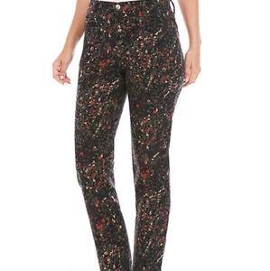 NWT Two Pcs Gloria Vanderbilt Floral Jeans Size 16